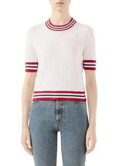 Gucci GG Logo Embossed Sweater