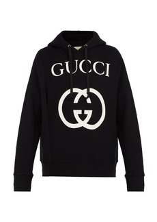 Gucci GG-logo hooded cotton sweatshirt