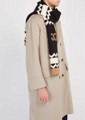 d7e29902f0ddb ... Gucci GG logo-intarsia wool scarf ...