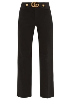 Gucci GG-logo kick-flare trousers