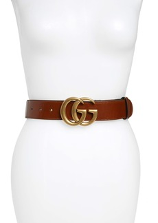 Gucci GG Logo Leather Belt