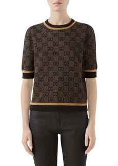 Gucci GG Logo Metallic Jacquard Sweater