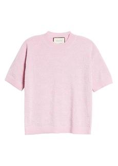 Gucci GG Logo Metallic Jacquard Wool Sweater