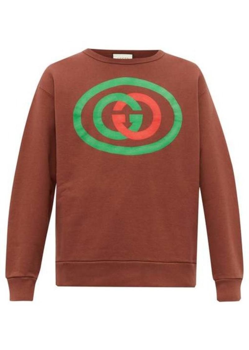 Gucci GG logo-print cotton-jersey sweatshirt