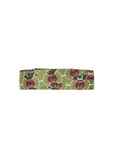 Gucci GG logo-print knotted silk-twill headband