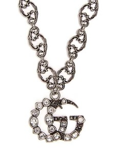 Gucci GG logo small pendant necklace