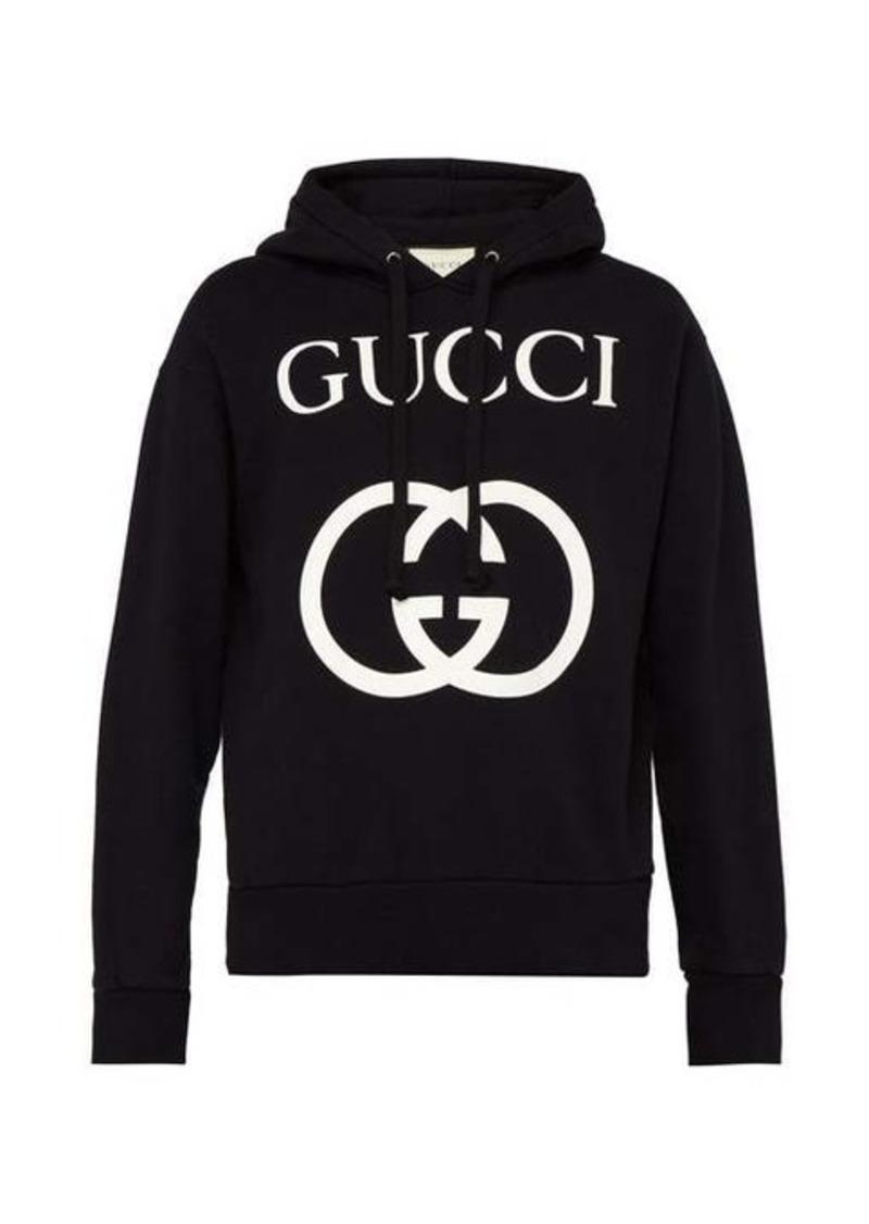 Gucci GG loop-back cotton hooded sweatshirt