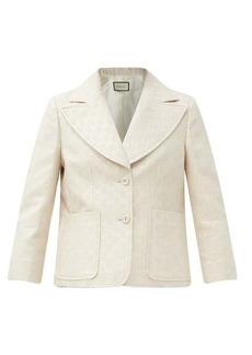 Gucci GG lurex-jacquard cropped wool-blend jacket
