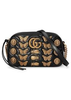 Gucci GG Marmont 2.0 Animal Studs Matelassé Leather Shoulder Bag