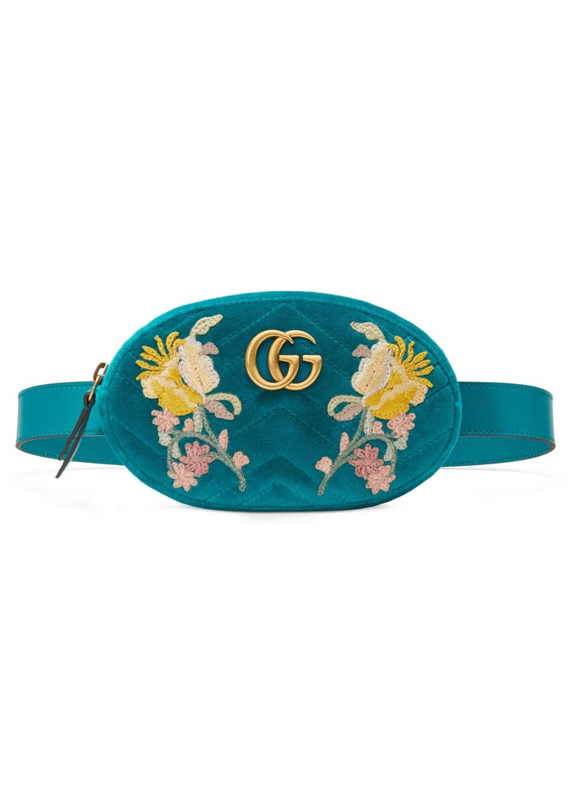a4ac0be3666aec Gucci Gucci GG Marmont 2.0 Embroidered Velvet Belt Bag | Handbags