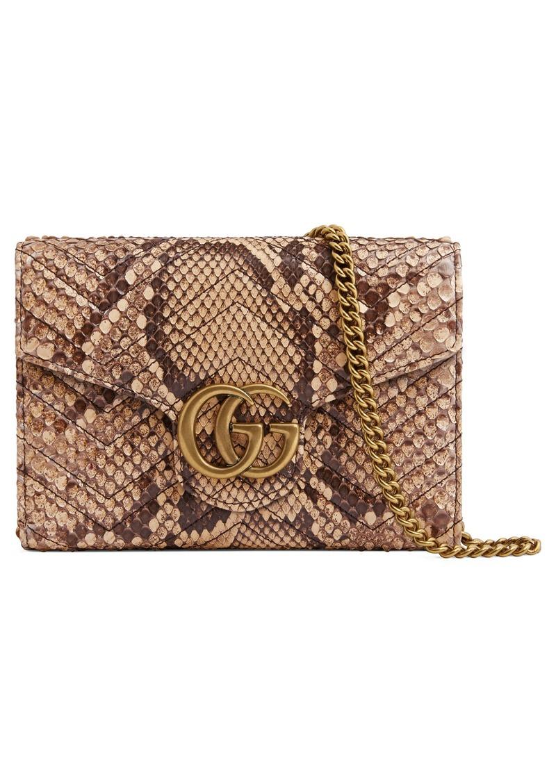 cad17c39bb2f8e Gucci Gucci GG Marmont 2.0 Matelassé Genuine Python Wallet on a ...