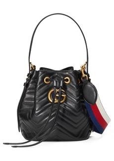 Gucci GG Marmont 2.0 Matelassé Leather Bucket Bag