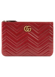 Gucci GG Marmont 2.0 Matelassé Leather Pouch