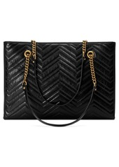 fdfa26b03c92 ... Gucci GG Marmont 2.0 Matelassé Medium Leather East/West Tote Bag ...