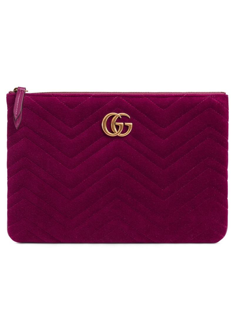 bc2bd3e6bf97 Gucci Gucci GG Marmont 2.0 Matelassé Velvet Pouch   Handbags
