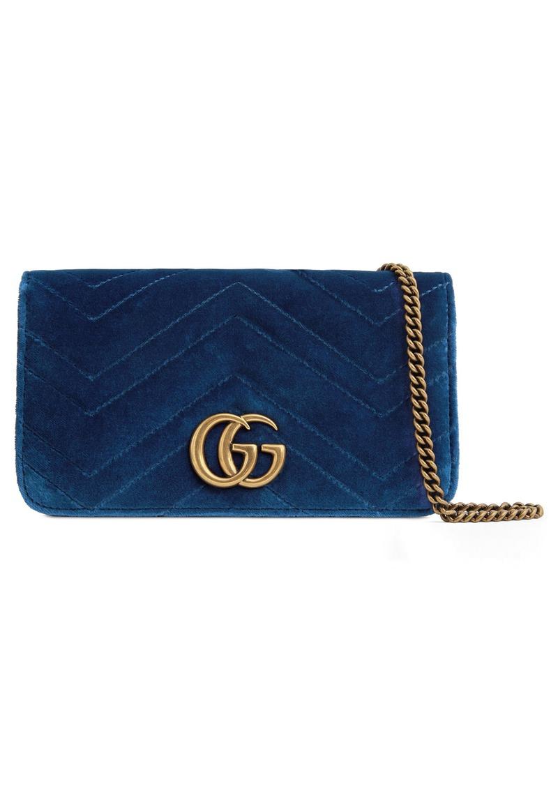 678a26a99 Gucci Gucci GG Marmont 2.0 Matelassé Velvet Shoulder Bag | Handbags