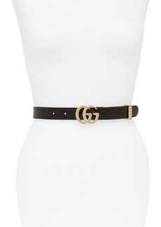 Gucci GG Marmont Calfskin Leather Belt