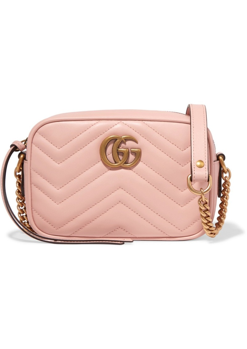 9815a76b35c8af Gucci Gucci GG Marmont Camera mini quilted leather shoulder bag ...