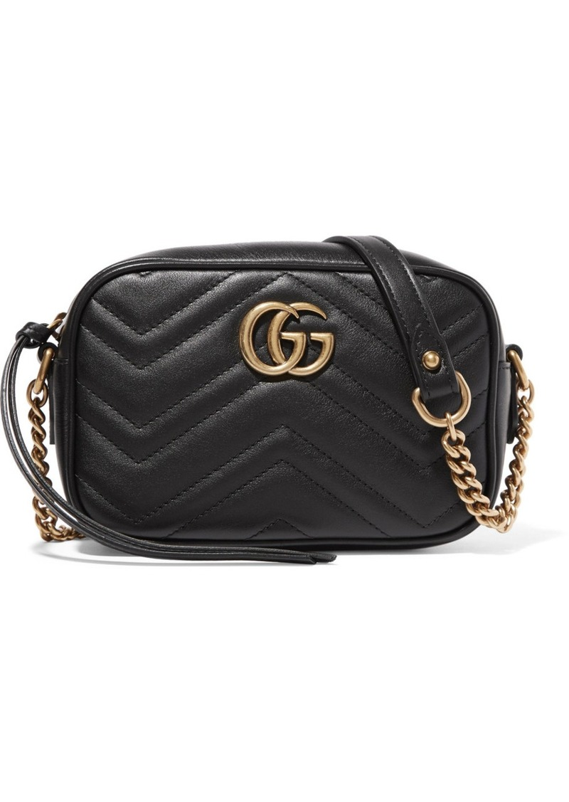 7026203bf14a9c Gucci Gucci GG Marmont Camera mini quilted leather shoulder bag ...