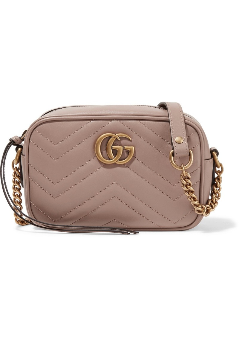 f6acfa0ac83 Gucci GG Marmont Camera mini quilted leather shoulder bag