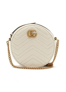 Gucci GG Marmont circular leather cross-body bag