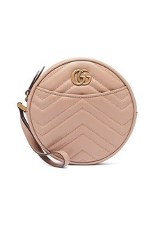 Gucci GG Marmont circular leather wristlet pouch