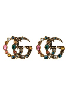 Gucci GG Marmont Cubic Zirconia Stud Earrings
