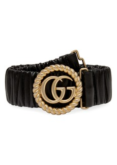 Gucci GG Marmont Elastic Leather Belt