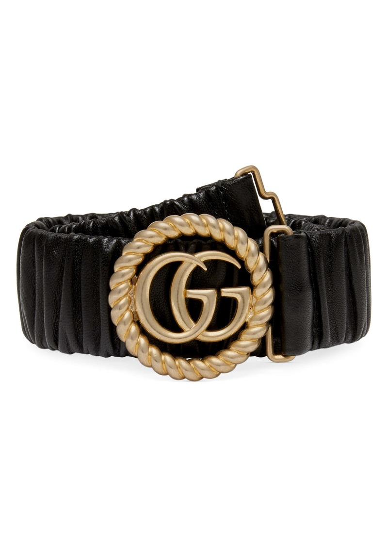 Gucci Elastic Leather Belt