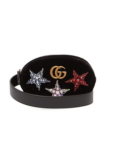 Gucci GG Marmont embellished velvet belt bag