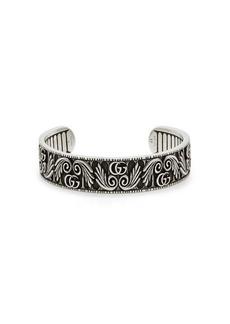 Gucci GG Marmont Flower sterling silver bracelet