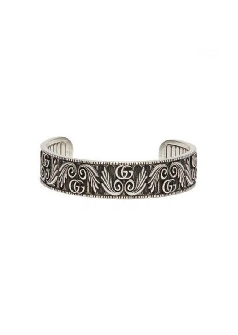 Gucci GG Marmont Flower sterling-silver bracelet