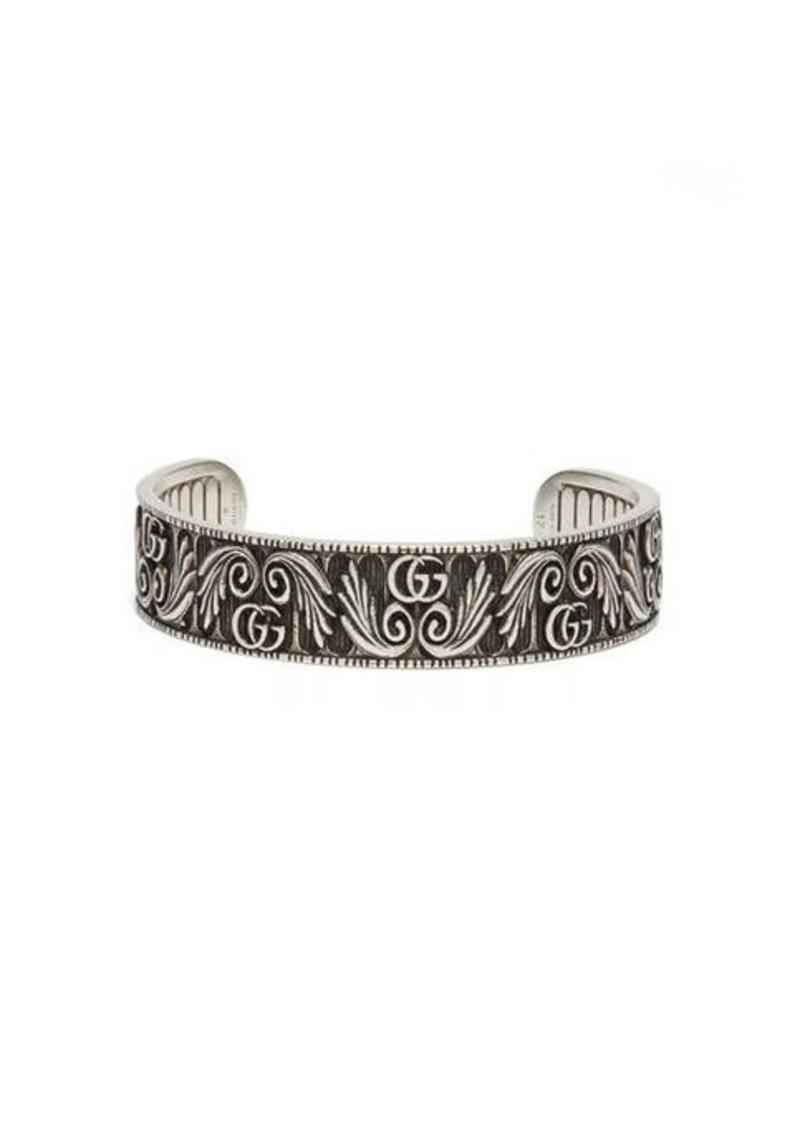 Gucci GG Marmont Flower sterling-silver bracelet
