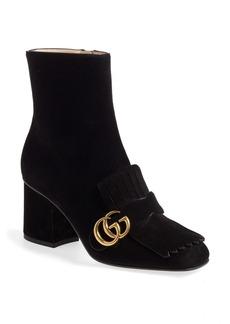 Gucci GG Marmont Fringe Bootie (Women)