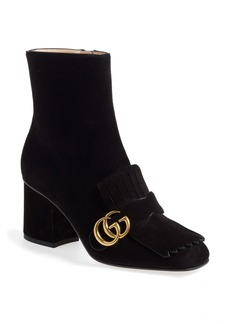 Gucci GG Marmont Fringe Bootie (Women)