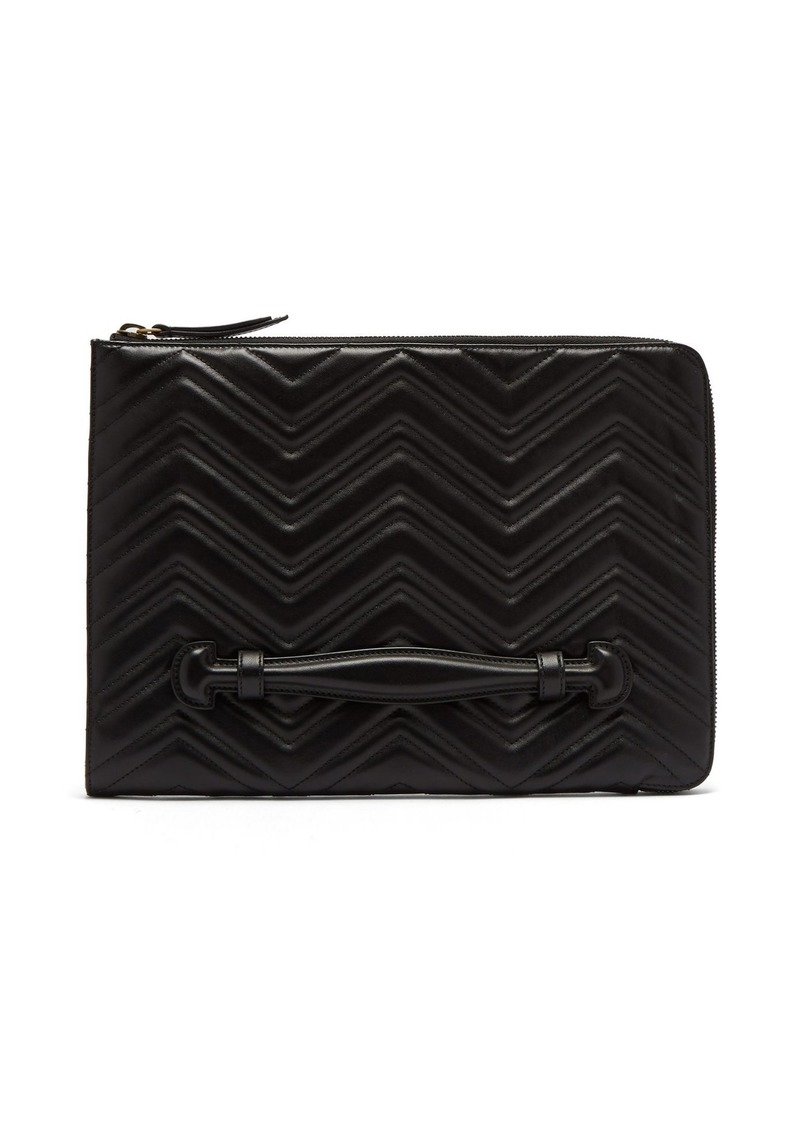 5e76b475f4 GG Marmont leather pouch