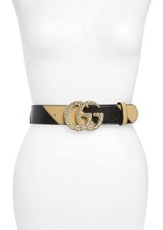 Gucci GG Marmont Logo Buckle Matelassé Leather Belt