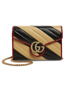 Gucci GG Marmont Matelassé Leather Wallet on Chain