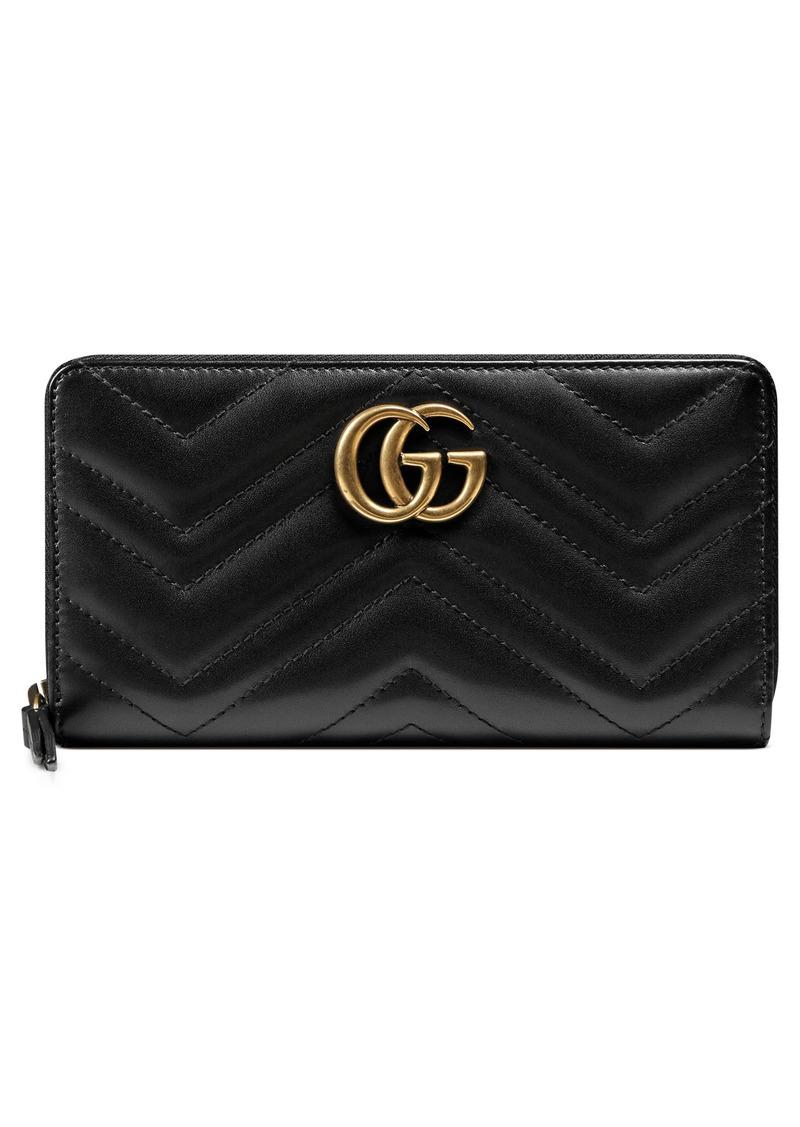 5ddac44045a9 Gucci Gucci GG Marmont Matelassé Leather Zip-Around Wallet | Handbags