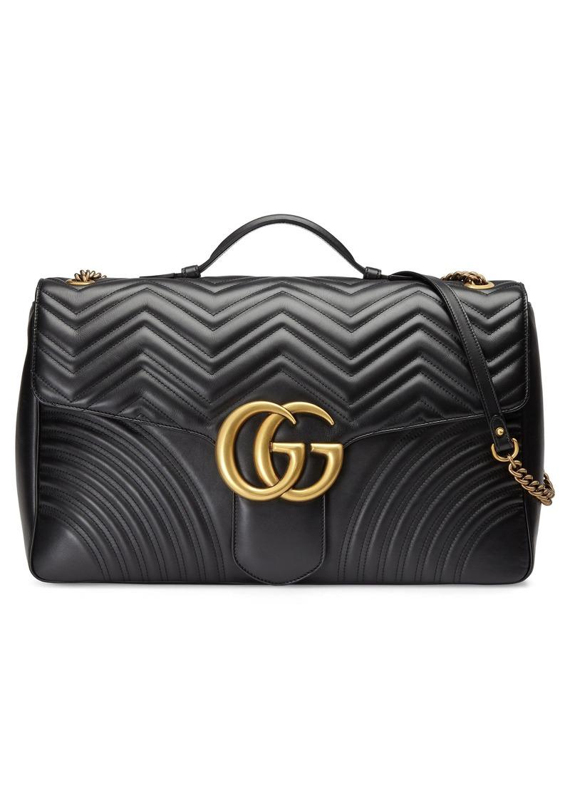 c8532bea7b85 Gucci Gucci GG Marmont Maxi Matelassé Top Handle Shoulder Bag | Handbags