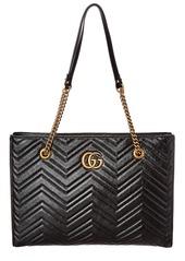 Gucci Gg Marmont Medium Matelasse Leather Tote