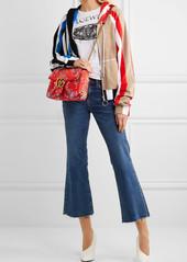 240255b92a3a96 Gucci Gucci GG Marmont medium quilted floral-jacquard shoulder bag ...