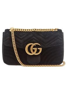 Gucci GG Marmont medium quilted-velvet shoulder bag