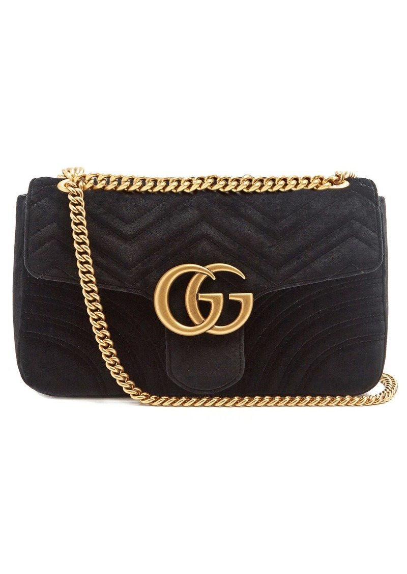 e61218c3b Gucci Gucci GG Marmont medium quilted-velvet shoulder bag | Handbags