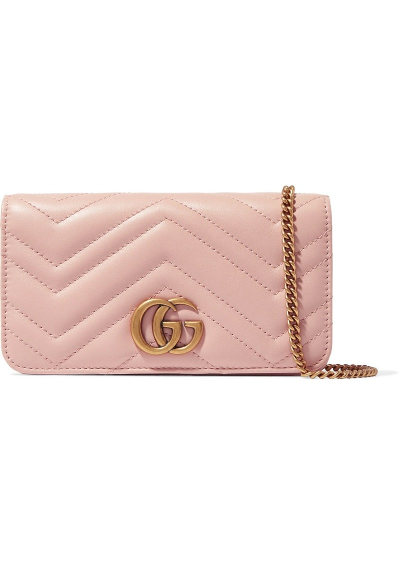 c4043a42f2a9 Gucci GG Marmont mini quilted leather shoulder bag