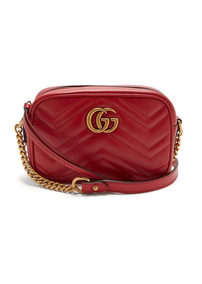 f3c76f437e2f Gucci Gucci GG Marmont mini quilted-leather shoulder bag