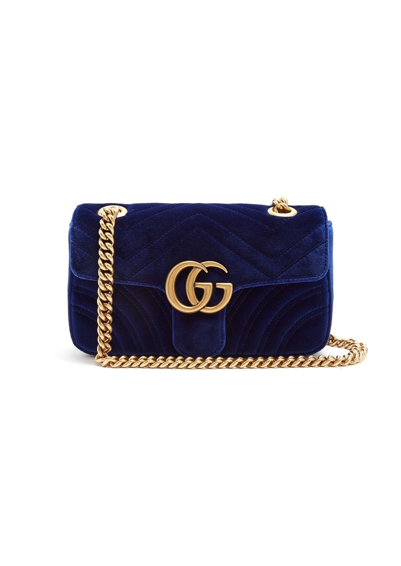 77ce94bbeec Gucci Gucci GG Marmont mini quilted-velvet cross-body bag