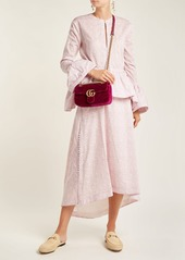 ed6943f3d7dcb6 Gucci Gucci GG Marmont mini quilted-velvet cross-body bag | Handbags