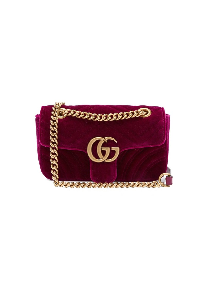 b398d768b72 Gucci Gucci GG Marmont mini quilted-velvet cross-body bag
