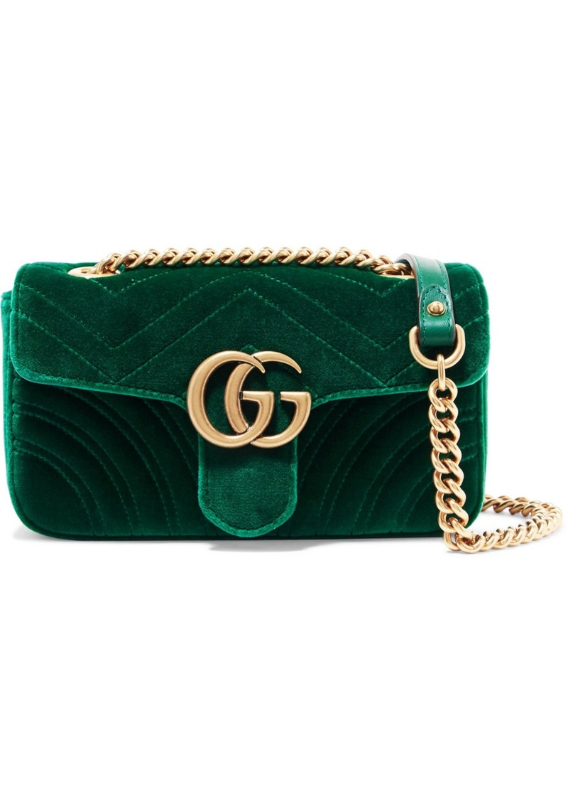 ddebaab1bfd90d Gucci Gucci GG Marmont mini velvet and leather shoulder bag | Handbags